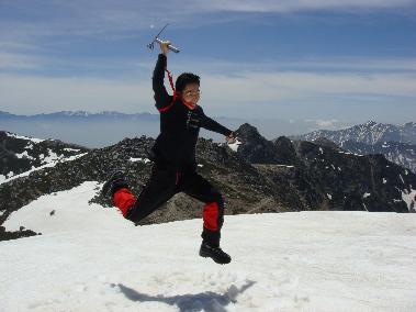 木曽駒ヶ岳山頂にて